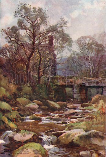 Ockery Bridge, near Princetown. Illustration for Our Beautiful Homeland series (various, early 20th cent).