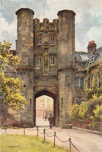 """The """"Bishop's Eye"""", Wells. Illustration for Our Beautiful Homeland series (various, early 20th cent)."""