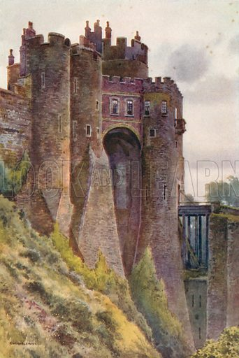 The Constable's Tower, Dover Castle. Illustration for Our Beautiful Homeland series (various, early 20th cent).