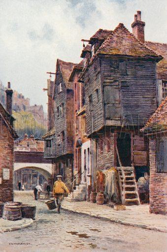 Fishermen's Quarter, Folkestone. Illustration for Our Beautiful Homeland series (various, early 20th cent).