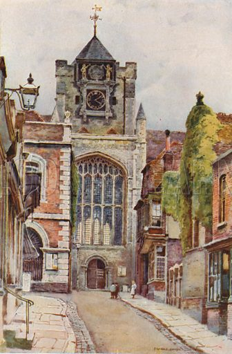 Rye Church. Illustration for Our Beautiful Homeland series (various, early 20th cent).