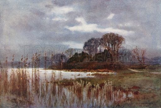 The Mill Pond, Beaulieu. Illustration for Our Beautiful Homeland series (various, early 20th cent).