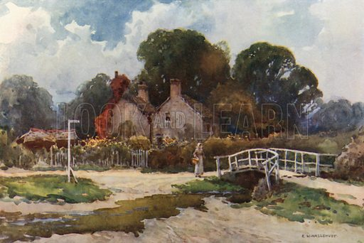 In Brockenhurst Village. Illustration for Our Beautiful Homeland series (various, early 20th cent).