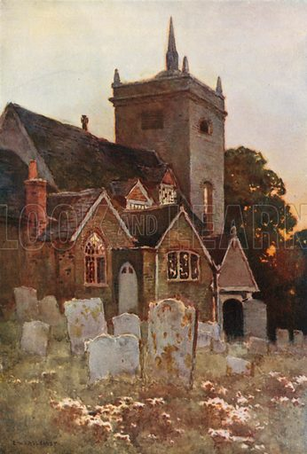 Minstead Church. Illustration for Our Beautiful Homeland series (various, early 20th cent).
