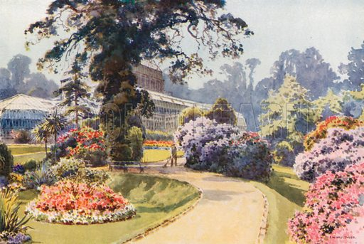 The Winter Gardens, Bournemouth. Illustration for Our Beautiful Homeland series (various, early 20th cent).