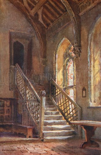 The Brethren's Hall, St Cross. Illustration for Our Beautiful Homeland series (various, early 20th cent).
