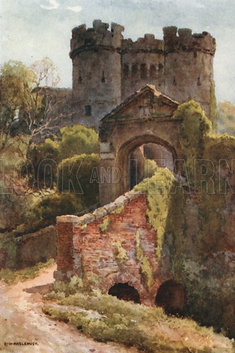 Carisbrooke Castle. Illustration for Our Beautiful Homeland series (various, early 20th cent).