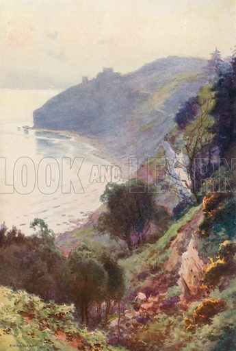 Durlston Bay, Swanage. Illustration for Our Beautiful Homeland series (various, early 20th cent).