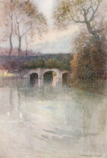 The Abbot's Bridge, Bury St Edmunds. Illustration for The Greater Abbeys of England by Abbot Gasquet (Chatto & Windus, 1908).