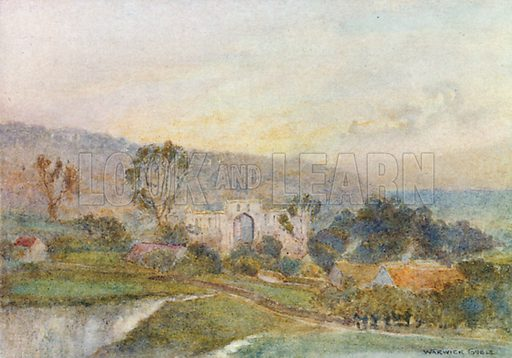 Rievaulx Abbey: Early Morning. Illustration for The Greater Abbeys of England by Abbot Gasquet (Chatto & Windus, 1908).