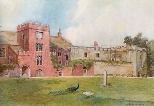 Torre Abbey. Illustration for The Greater Abbeys of England by Abbot Gasquet (Chatto & Windus, 1908).