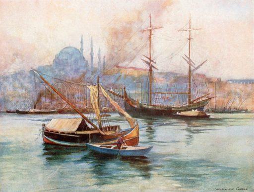 Golden Horn. Illustration for Constantinople by Alexander van Millingen (A&C Black, 1906).