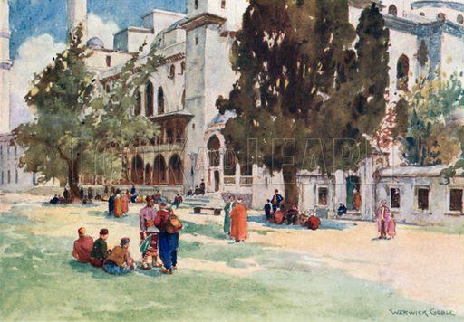 Court of the Suleimaniyeh. Illustration for Constantinople by Alexander van Millingen (A&C Black, 1906).