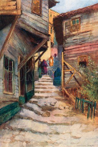 A Step Street. Illustration for Constantinople by Alexander van Millingen (A&C Black, 1906).