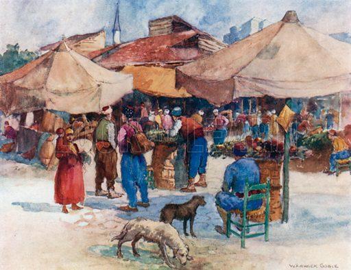 Market at Scutari. Illustration for Constantinople by Alexander van Millingen (A&C Black, 1906).
