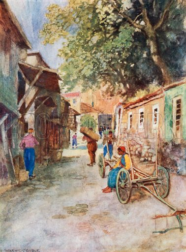 Street Scene, Clay Works. Illustration for Constantinople by Alexander van Millingen (A&C Black, 1906).