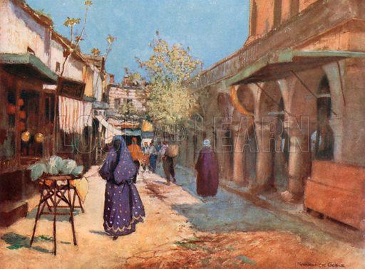 Street Scene, Stamboul. Illustration for Constantinople by Alexander van Millingen (A&C Black, 1906).