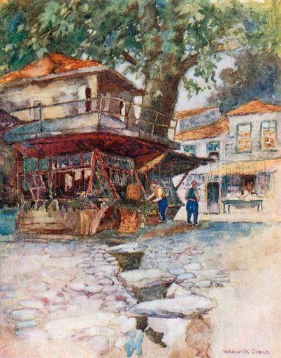 A Village Store at Kavak. Illustration for Constantinople by Alexander van Millingen (A&C Black, 1906).