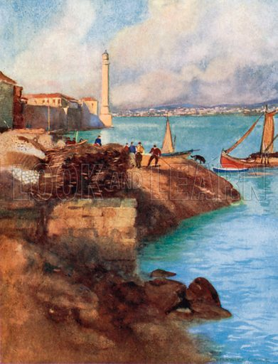 The Seraglio Lighthouse and Scutari. Illustration for Constantinople by Alexander van Millingen (A&C Black, 1906).