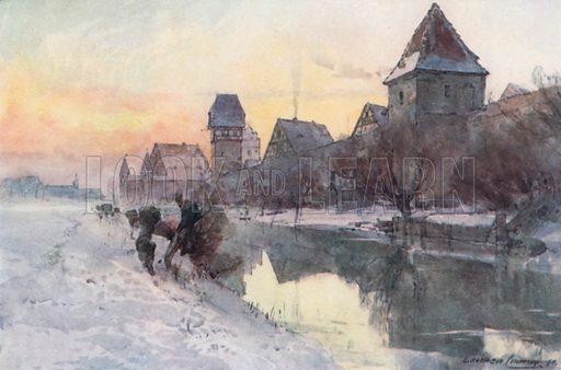 Dinkelsbuhl, picture, image, illustration