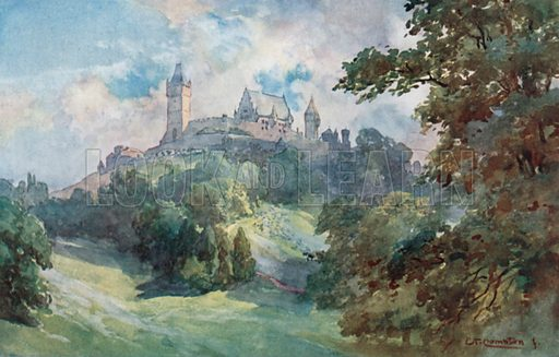 Coburg – Ducal Castle and Perk. Illustration for Germany by JF Dickie (A&C Black, 1912).