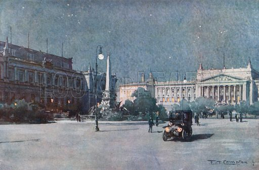 Leipzig – Augustus Platz. Illustration for Germany by JF Dickie (A&C Black, 1912).