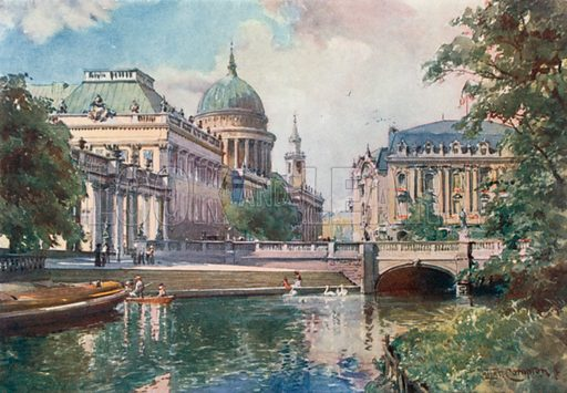 Potsdam--Imperial Palace. Illustration for Germany by J F Dickie (A&C Black, 1912).