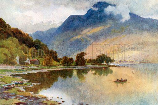 Ben Lomond from Luss. Illustration for Beautiful Scotland (Blackie, c 1910).