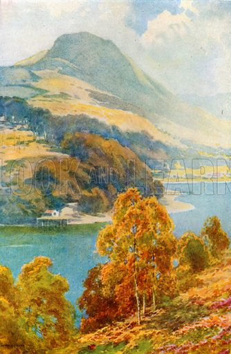 The Straits of Balmaha from Inch Cailleach. Illustration for Beautiful Scotland (Blackie, c 1910).
