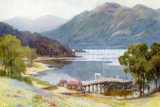 Tarbet. Illustration for Beautiful Scotland (Blackie, c 1910).