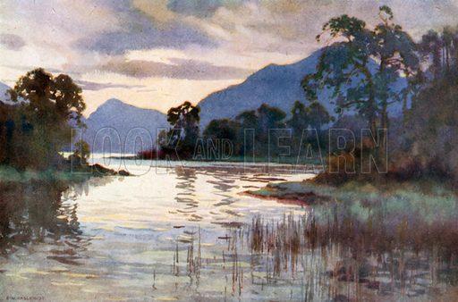 Luss Straits. Illustration for Beautiful Scotland (Blackie, c 1910).