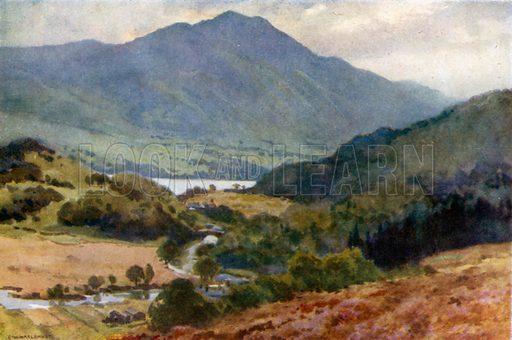 Ben Venue and Loch Achray, Trossachs. Illustration for Beautiful Scotland (Blackie, c 1910).