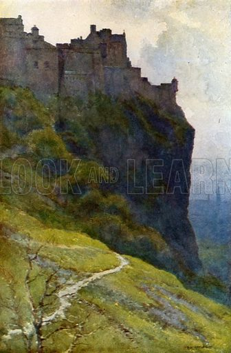 The Castle. Illustration for Beautiful Scotland (Blackie, c 1910).