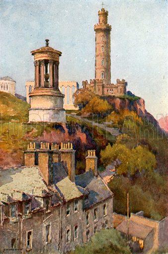 Calton Hill. Illustration for Beautiful Scotland (Blackie, c 1910).