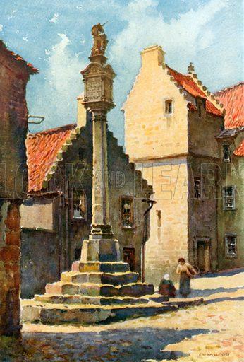 Market Cross, Culross. Illustration for Beautiful Scotland (Blackie, c 1910).