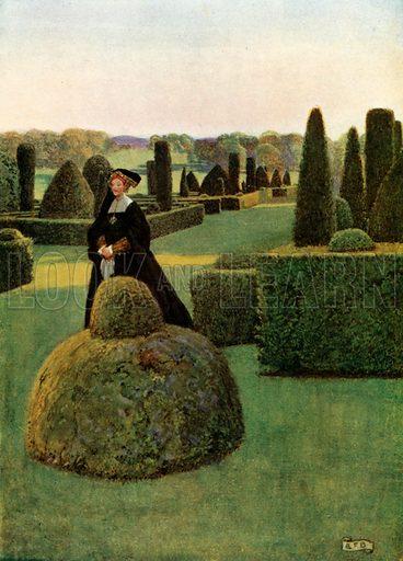 Fair Rosamond. Thomas Delone. Fair Rosamond. Illustration for Golden Book of Famous Women (Hodder and Stoughton, c 1910).