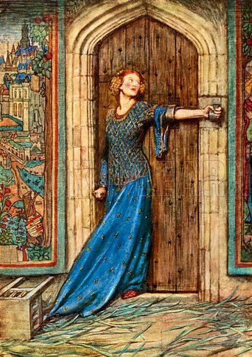 Kate Barlass. DG Rossetti. The King's Tragedy. Illustration for Golden Book of Famous Women (Hodder and Stoughton, c 1910).