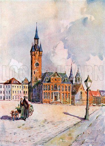 Lierre. Hotel De Ville. Illustration for Belgium the Glorious (Hutchinson, c 1920).