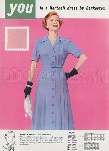Page from Marshall Ward catalogue, Spring Summer 1955.