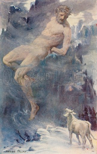 Io and Prometheus. Illustration for Tales of the Gods and Heroes by GW Cox (Thomas Nelson, c 1910).