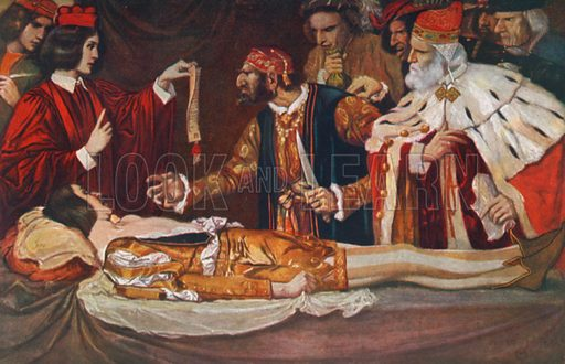 The Court Scene. The Merchant of Venice – Act Iv, Scene 1. Illustration for The Windsor Shakespeare edited by Henry Hudson (Caxton, c 1925).