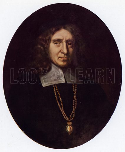 William Dugdale (1605-86).  Illustration for English Diaries and Journals by Kate O'Brien (Collins, 1943).  Only suitable for repro at small size.