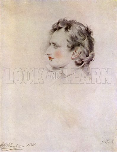 Benjamin Haydon (1788-1846).  Illustration for English Diaries and Journals by Kate O'Brien (Collins, 1943).  Only suitable for repro at small size.