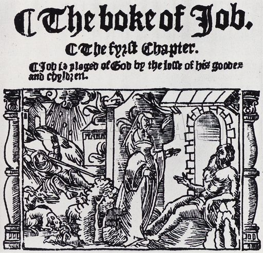 Woodcut from the Great Bible, 1539.  Illustration for The English Bible by Sir Herbert Grierson (Collins, 1943).  Only suitable for repro at small size.