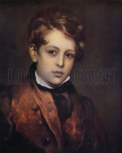 Lord Byron, as a boy.  From reproduction, c 1945.