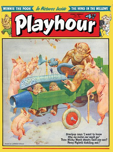 Gran'pop. Cover from Playhour from 2 July 1955.