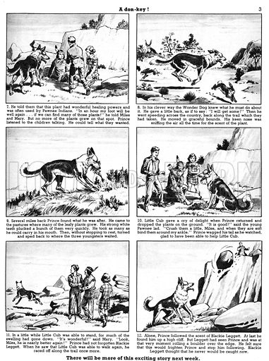 Prince the Wonder Dog. Comic strip from Playhour, 2 July 1955.