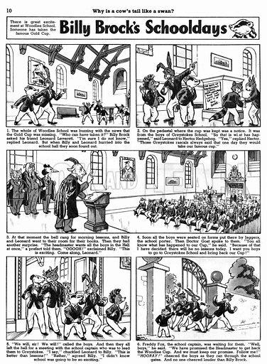 Billy Brock's Schooldays. Comic strip from Playhour, 2 July 1955.