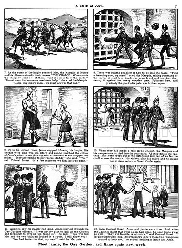The Gay Gordons. Comic strip from Playhour 9 July 1955.