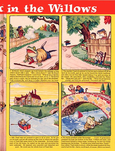 The Wind in the Willows, based on the novel by Kenneth Grahame.